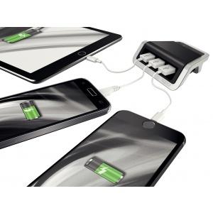 Leitz Power Charger 3-port USB   negru satin   62070094