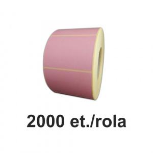 ZINTA Role etichete semilucioase roz 100x100mm, 2000 et./rola - 100X100X2000-SGP-PANTONEP217
