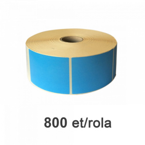 ZINTA Role etichete termice albastre 148x210mm, PANTONE 2707, 800 et./rola - 148X210X800-TH-BLUP2707