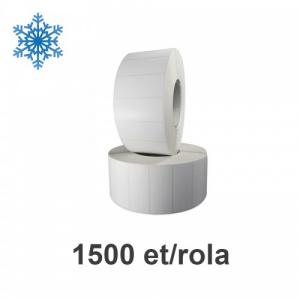 ZINTA Role etichete de plastic albe 70x35 mm, pentru congelate, 1500 et./rola - 70X35X1500-PP-DF