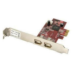 Lindy FireWire Card with TI Chipset- 2 Port, PCI Express  51180