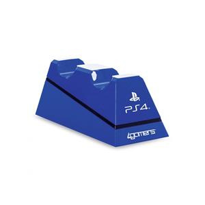 4Gamers Statie Incarcare Sony Officially Licensed Dual Controller Charging Stand Blue PS4