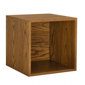[en.casa] Dulap design combinat – sistem rafturi de perete - 45x45x40 cm - efect lemn de nuc