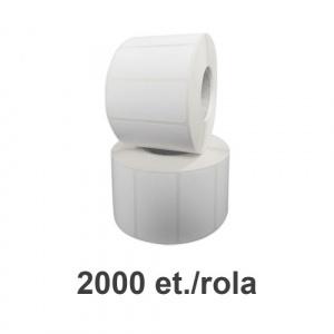 ZINTA Role etichete de plastic albe 50x25mm, fi.76 mm, 2000 et./rola - 50X25X2000-PE