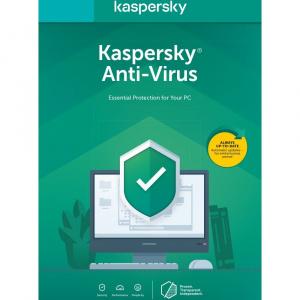 Kaspersky Antivirus 2021, 1 an, 1 PC - KL1171O5AFS