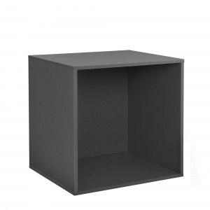 [en.casa] Dulap design combinat – sistem rafturi de perete - 45x45x40 cm - gri