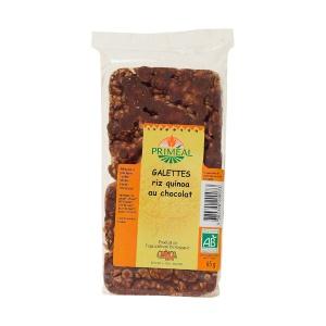 Primeal Turtite Bio de orez cu Quinoa si Ciocolata 70g