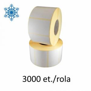 ZINTA Role etichete termice 58x43mm, pentru congelate, Top Thermal, 3000 et./rola - 58X43X3000-TTH-DF