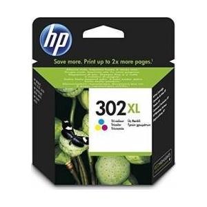 HP 302XL High Yield Tri-color Original Ink Cartridge (F6U67AE)