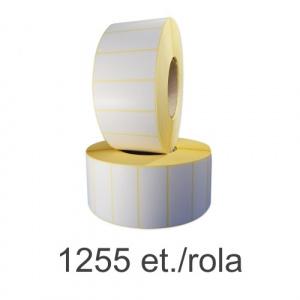 ZINTA Role etichete termice 71.6x30mm, perfor, gap, 450 et./rola - 71.6X30X450-TH-PG