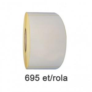 ZINTA Role etichete semilucioase 75x210 mm, perfor gap, 695 et./rola - 75X210X695-SGP-PG