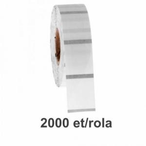 ZINTA Role etichete de plastic transparente 50x20mm, 2000 et./rola - 50X20X2000-PET-BM