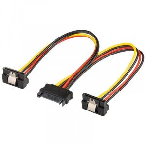 Goobay Cablu adaptor SATA la 2x SATA 90 grade mama
