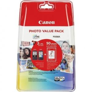Canon PG-540XL + CL-541XL + Hartie Photo GP-501 10x15cm (set 50 buc)