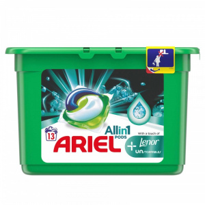 Ariel Detergent de rufe All in 1 Pods Lenor Unstoppables, 13 x 30 ml