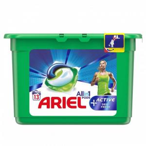 Ariel Detergent de rufe All in 1 Pods Active Deo fresh, 13 x 30 ml