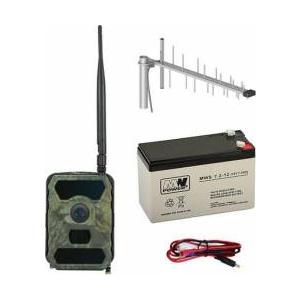 PNI Kit camera vanatoare Hunting 300C cu INTERNET + Acumulator + Antena GSM + Cablu + 2 ani abonament