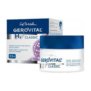 Gerovital Crema pentru Ten Matur, Uscat, Ridat - H3 Classic Cream for Mature, Dry, Wrinkled Skin, 50ml