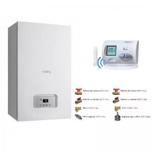 Saunier Duval Thelia Condens 30-A 30 kW+ Kit accesorii instalare centrala + termostat de ambient wireless