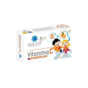 BIO SUN LINE Vitamina c + propolis pur, pentru copii 30cpr