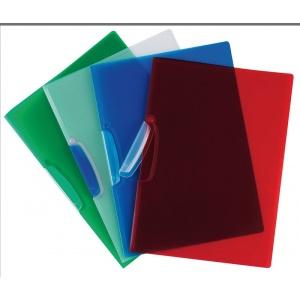 Q-Connect Mapa plastic cu elastic pe colturi, 400 microni - verde transparent
