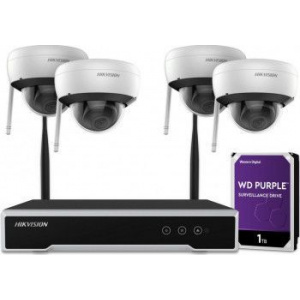 Hikvision Kit camera de supraveghre NK42E1H-1T(WD) 4 canale Gigabit IP 1 x NVR 1 x HDD 1TB
