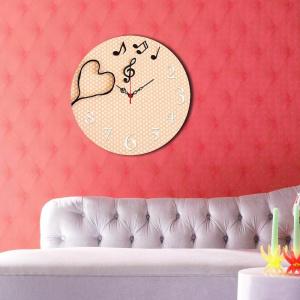 Home Art Ceas decorativ de perete din lemn, 238HMA3109