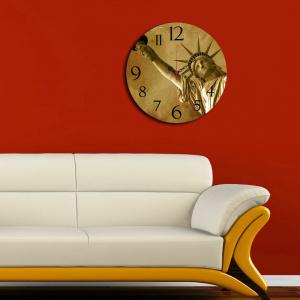 Home Art Ceas decorativ de perete din lemn, 238HMA3136