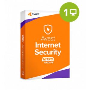Avast Internet Security 2018 – 1 an / 1 PC, licență electronică 32/64 bit