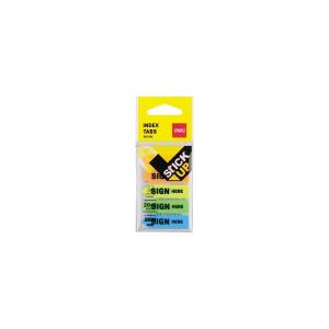 Deli Index adeziv plastic Sign Here 12 x 44 mm