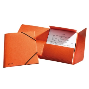 Esselte Mapa A4 lux din carton cu elastic portocaliu E26594