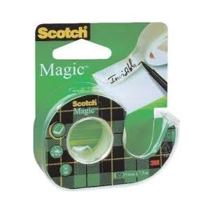 SCOTCH Banda adeziva Scotch Magic cu dispenser 19mmx7,5m
