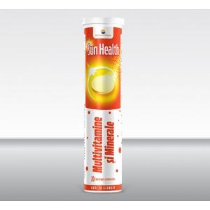 Sun Wave Pharma Sun Health Efervescent Multivitamine si Minerale 20 comprimate