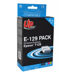 UPrint Set EJ129UPRP5, 2BK+C+M+Y, 2x15+3x12 ml
