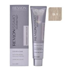 Revlon Vopsea Permanenta - Revlonissimo Colorsmetique Permanent Hair Color, nuanta 9.1 Very Light Ash Blonde, 60ml