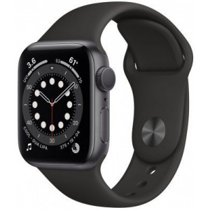 Apple Watch Series 6 44mm GPS Space Gray Aluminum Case with Black Sport Band