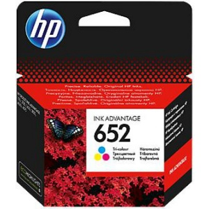 HP 652 Tri-color Original Ink Advantage Cartridge (F6V24AE)