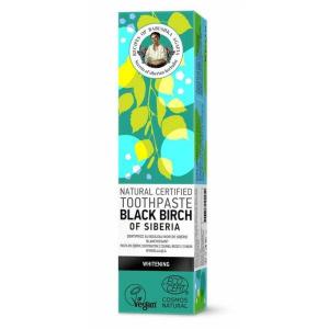 Retetele Bunicii Agafia Pasta de Dinti pentru Albire Black Birch of Siberia, 85g