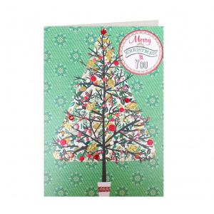 Laura Darrington Design Felicitare - Merry Christmas to you Tree