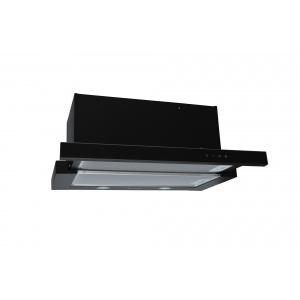 Pyramis Silver Sliding Turbo Full Black Glass -60cm-