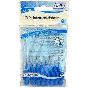 TePe Interdentare perii normale 0,6 mm albastru 8 bucati