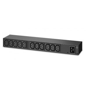 APC Rack PDU, Basic, 0U/1U, 100-240V/20A, 220-240V/16A, (13) C13 AP6020A
