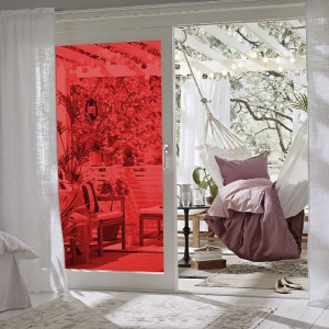Ideal Lux Folie geamuri rosie transparenta 45 cm 200-1964