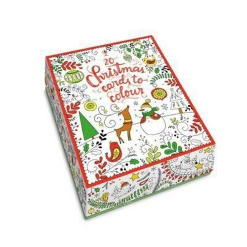 Usborne 20 Christmas Cards to Colour