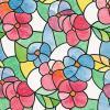Ideal Lux Folie geamuri vitralii flori colorate 45 cm 200-2497